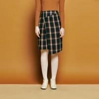 [urago]Check unbalance lap skirt