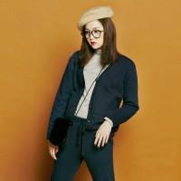 [유라고]Quilt button cotton cardigan