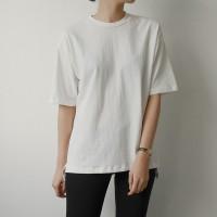코튼 라운드 하프 티셔츠 (5-COLORS)