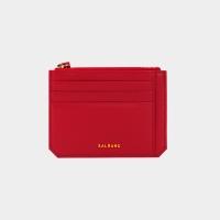 [살랑]Dijon M201 Flap mini Card Wallet cherry red