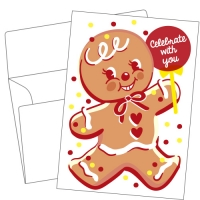 Lithography greeting card  22 Ginger cookie