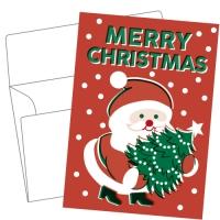 Lithography greeting card  23 Santa Claus