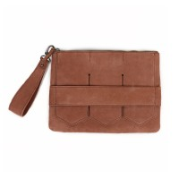 Modern fringe clutch bag _Brown