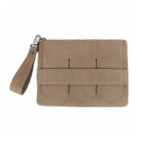Modern fringe clutch bag _Beige