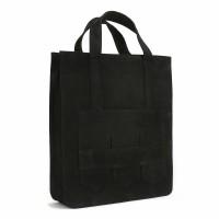 Modern fringe tote bag _Balck