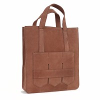 Modern fringe tote bag _Brown