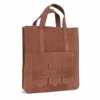 Modern fringe tote bag _Brown