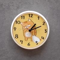 우드로하우스 고양이 욕실시계 방수 벽시계 4종