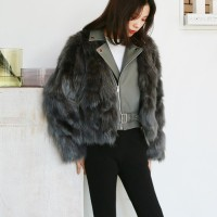 Winter fur rider jacket