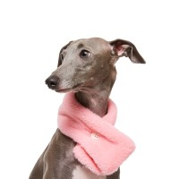 털니트 단추 목도리 핑크
