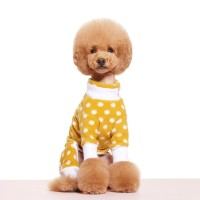 YELLOW POLKA DOT FLEECE ALL IN ONE