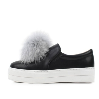 kami et muse Color fur drop platform slip on _KM16w341