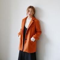 Single button woolen jacket