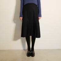 Front pleats unique skirt