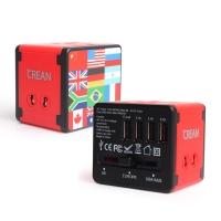 크레앙 여행용 4 USB 멀티 충전기 (CRETRVADT4U)