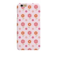Simple Pink BG Flower (HF-016) Hard Case