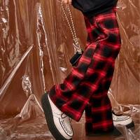 check zipper pants (2 color) - unisex_(479291)