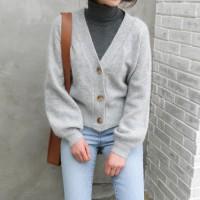 Soft angora cardigan