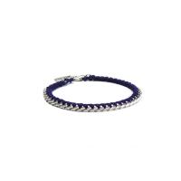 wish string bracelet (navy)