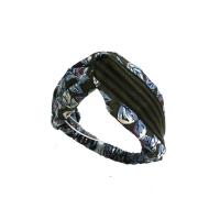 leaf stripe turban hairband