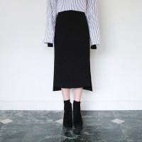 Slit unbal skirt