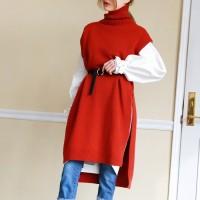 Long pola wool vest