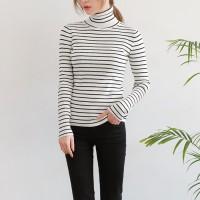 Stripe slim golgi pola tee