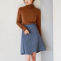 Girlish pleats point skirt
