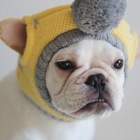 Yellow Pompom Knit Hat