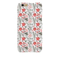 Real Cute Red Flower (HF-030B) Hard Case