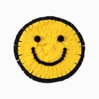 [반려견 스너플매트] 노즈워크 스마일매트 - yellow