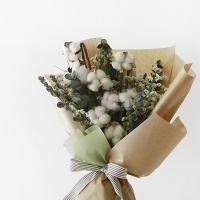 목화 & 유칼립투스 네츄럴 꽃다발