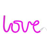 love neon light-pink