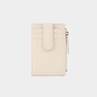 [살랑]Dijon 201S Flap mini Card Wallet cream beige