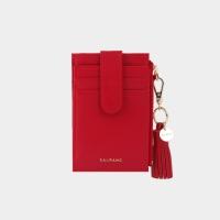 [태슬증정][살랑]Dijon 201S Flap mini Card Wallet cherry red