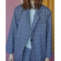 purple check jacket