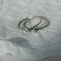 [silver925] mood initial ring