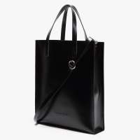 LEATHER SQUARE SHOULDER&TOTE (BLACK)