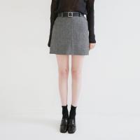 Simple suit belt skirt