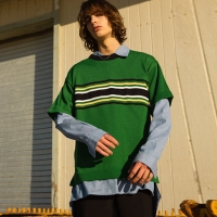 CHARLIE OVERSIZED SWEATER atb121m(Green)