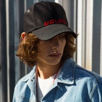 UNISEX NEW GLOSS BASEBALL CAP aaa042u(Black / Red)