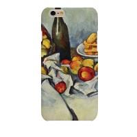 명화 폴 세잔 생화 꽃병과 사과 바구니 하드 케이스