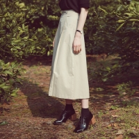 Cotton line long skirt