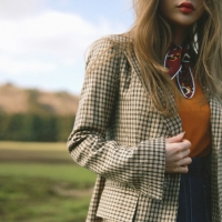 Llight color check jacket