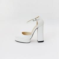 Strap pumps high heel