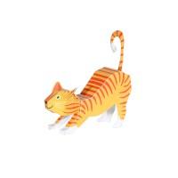 [Pukaca] D.I.Y 3D 페이퍼 토이 _ 고양이들 (4 Kids cats)