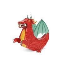 [Pukaca] D.I.Y 3D 페이퍼 토이 _ 붉은 용 (Red Dragon Paper Toy)