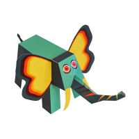 [Pukaca] D.I.Y 3D 페이퍼 토이 _ 정글 동물들 (4 Jungle Animals)