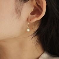 half ring pearl earring