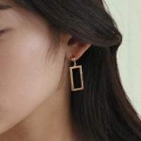rectangle drop earring